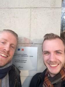 Mattias, projektledare och Alexander, förbundsordförande i Sverok